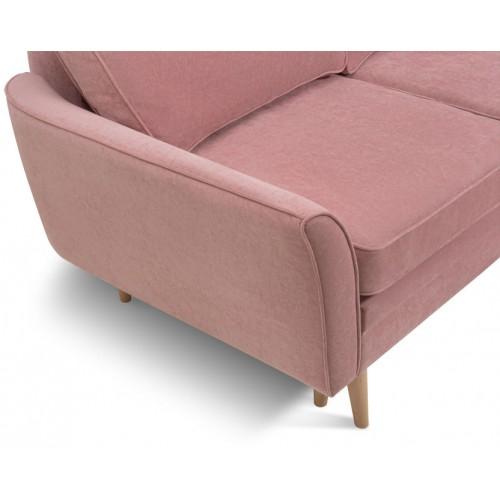 Диван Верона вельвет розовый