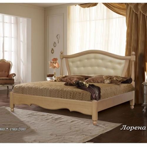 Кровать с кожей Лорена-А