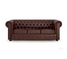 Кожаный диван Честерфилд трехместный