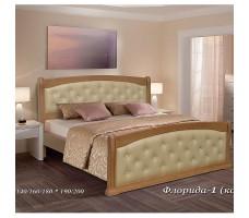 Кровать с кожей Флорида-1А